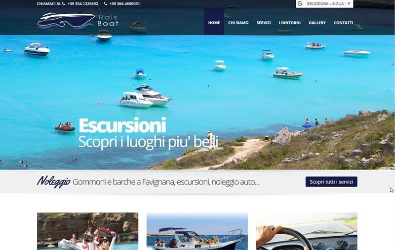 Noleggio Gommoni Favignana Rais Boat