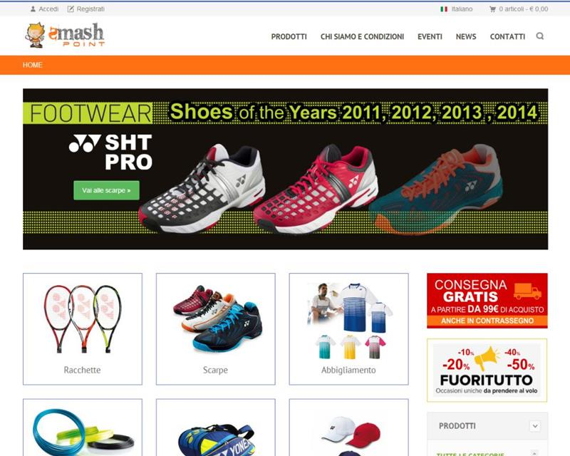 Smash Point Ecommerce articoli per il Tennis