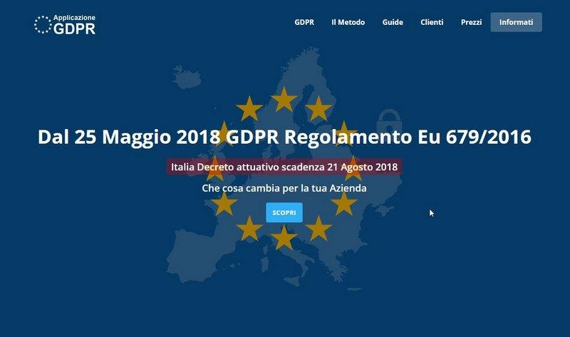 Applicazione Gdpr 679/2016
