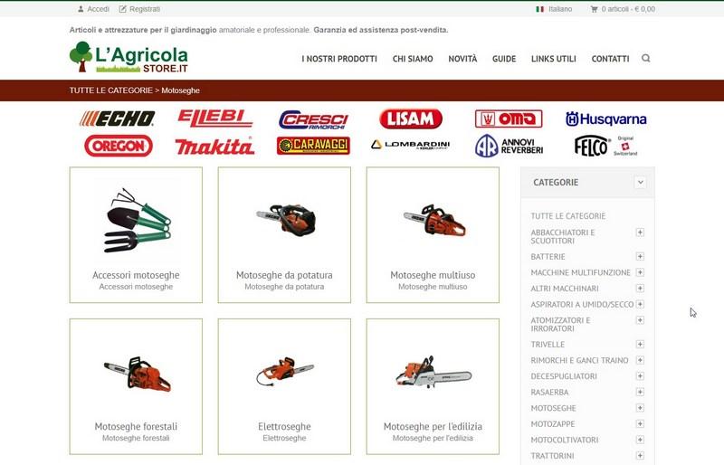 Agricola Store Ecommerce articoli per l'agricoltura