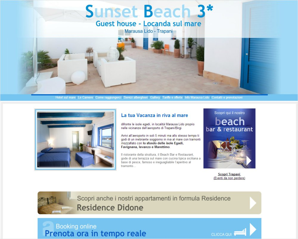 SunsetBeachTrapani.it - Affitta camere sul Lido Marausa