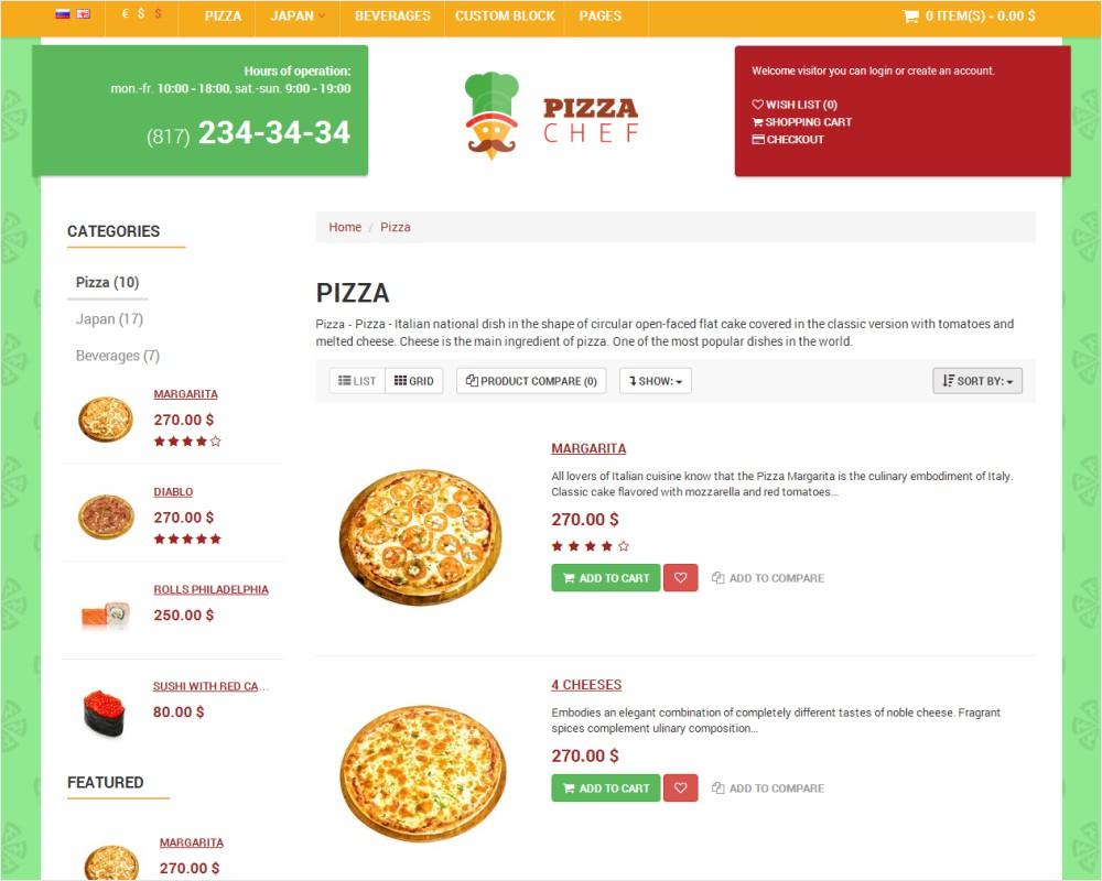PIzza Chef - Scegli la Pizza che vuoi