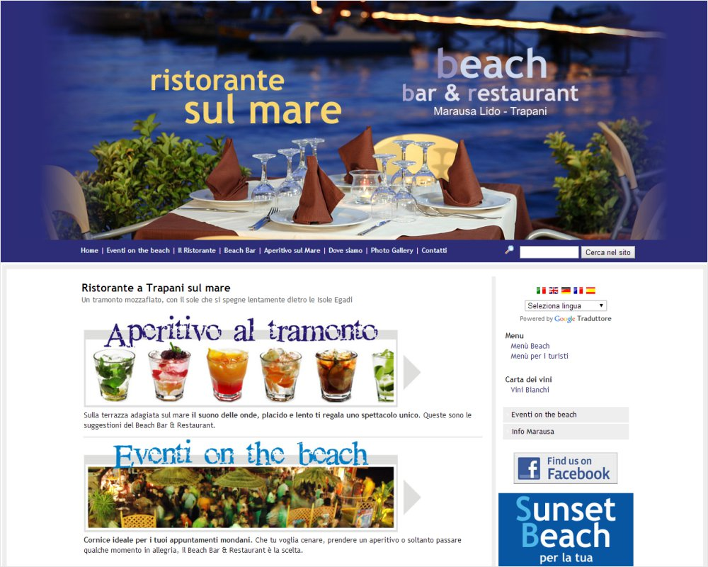 RistoranteaTrapani.it - Beach Bar Restaurant Marausa