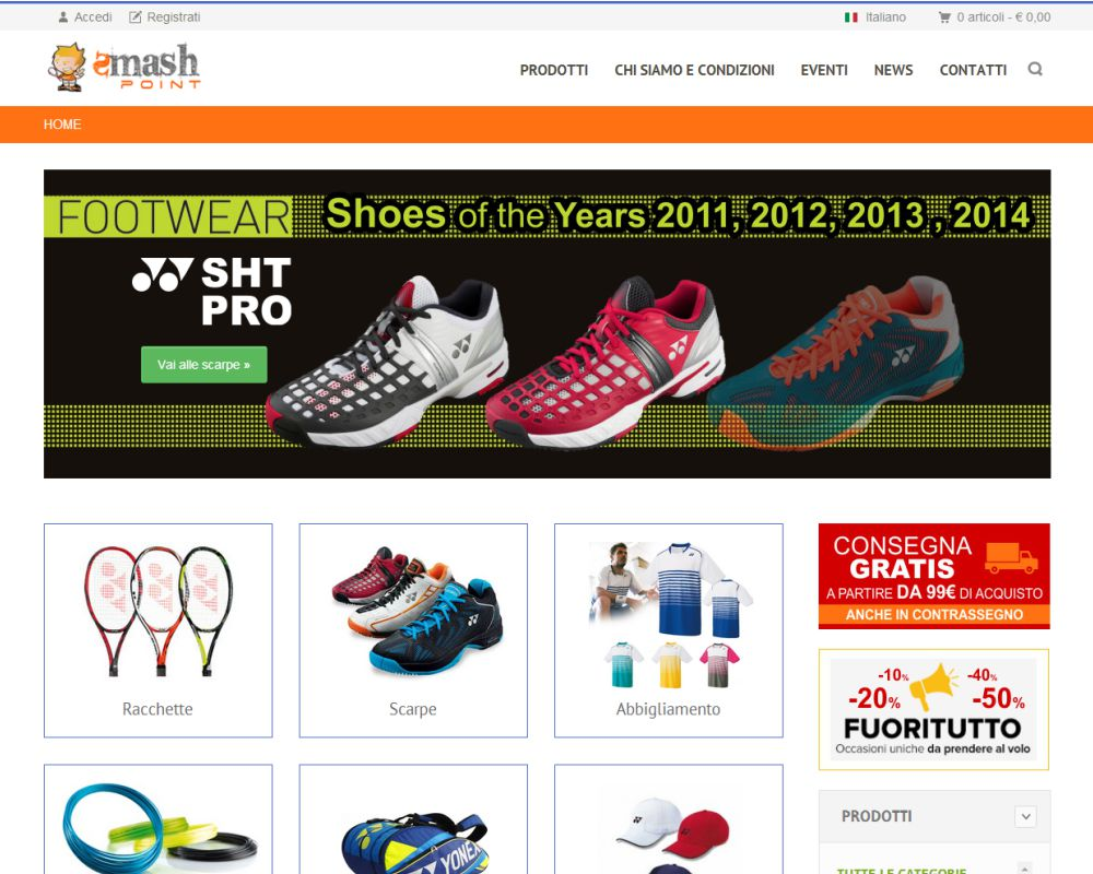 SMASHPOINT.IT - Ecommerce Art. Tennis